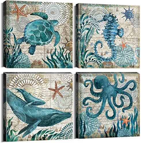 Teal Home Wall Decor Mediterranean product image
