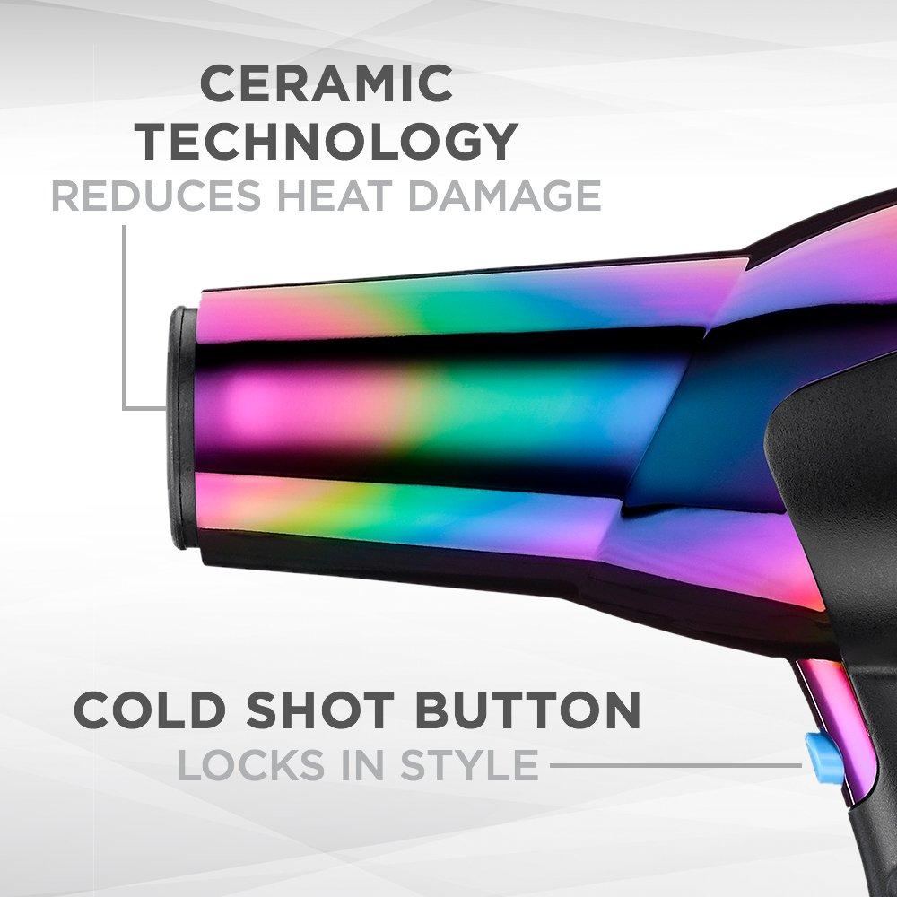 INFINITIPRO BY CONAIR 1875 Watt Ion Choice Hair Dryer, Rainbow finish