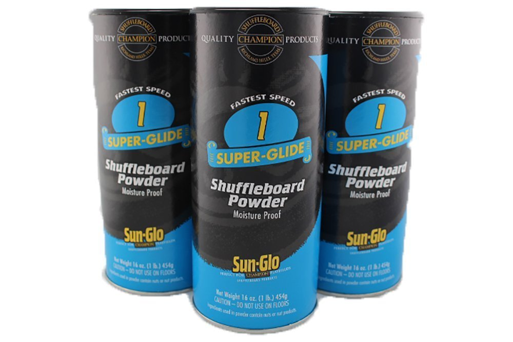 3 Pack of Sun-Glo #1 Speed Super-Glide Shuffleboard Powder Wax by Sun-Glo