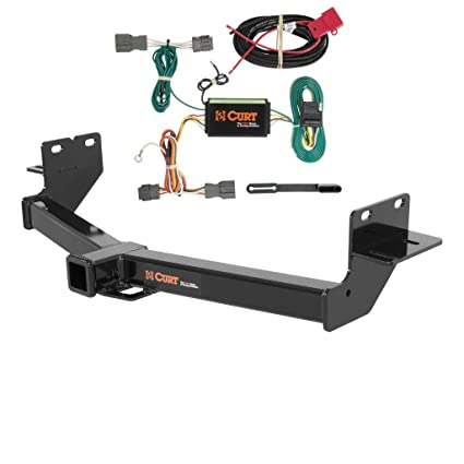 curt class 3 trailer hitch bundle with wiring for 2013 2016 hyundai santa fe 13153 \u0026 56184 Chevy Equinox Trailer Hitch Wiring