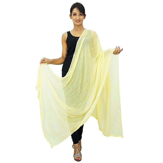 Estola del abrigo del cuello indio pañuelos de gasa mujer Blend Dupatta Chunni: Amazon.es: Ropa y accesorios