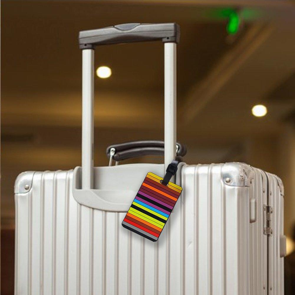 5f06ec5ef2b8 Paxcoo 5 Pcs PVC Luggage Tags Travel Suitcase Labels  Amazon.co.uk  Luggage