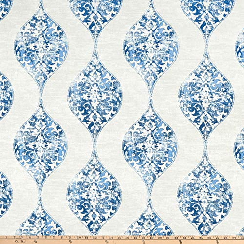 Magnolia Home Fashions Romano Ocean Fabric by the Yard (Home Magnolia Fabrics)