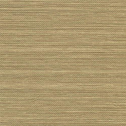 Beige Faux Grass Cloth Wallpaper - 5