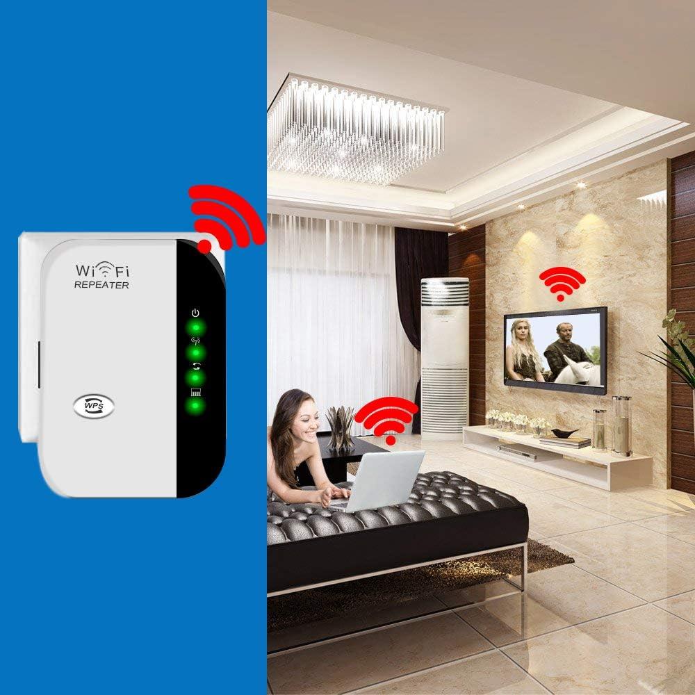 RAHOLY WLAN Repeater WLAN Signal Verstärker 16 Mbit/s WiFi Range Extender  Wireless Access Point 16.16GHz mit WPS Funktion Willigt IEEE8016.16n/g/b