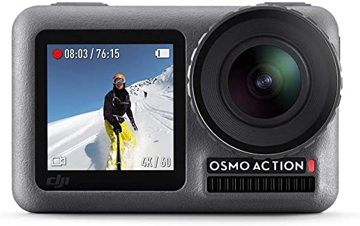 Amazon.com : DJI Osmo Action - 4K Action Cam 12MP Digital Camera with 2 Displays 36ft Underwater Waterproof WiFi HDR Video 145° Angle, Black : Camera & Photo