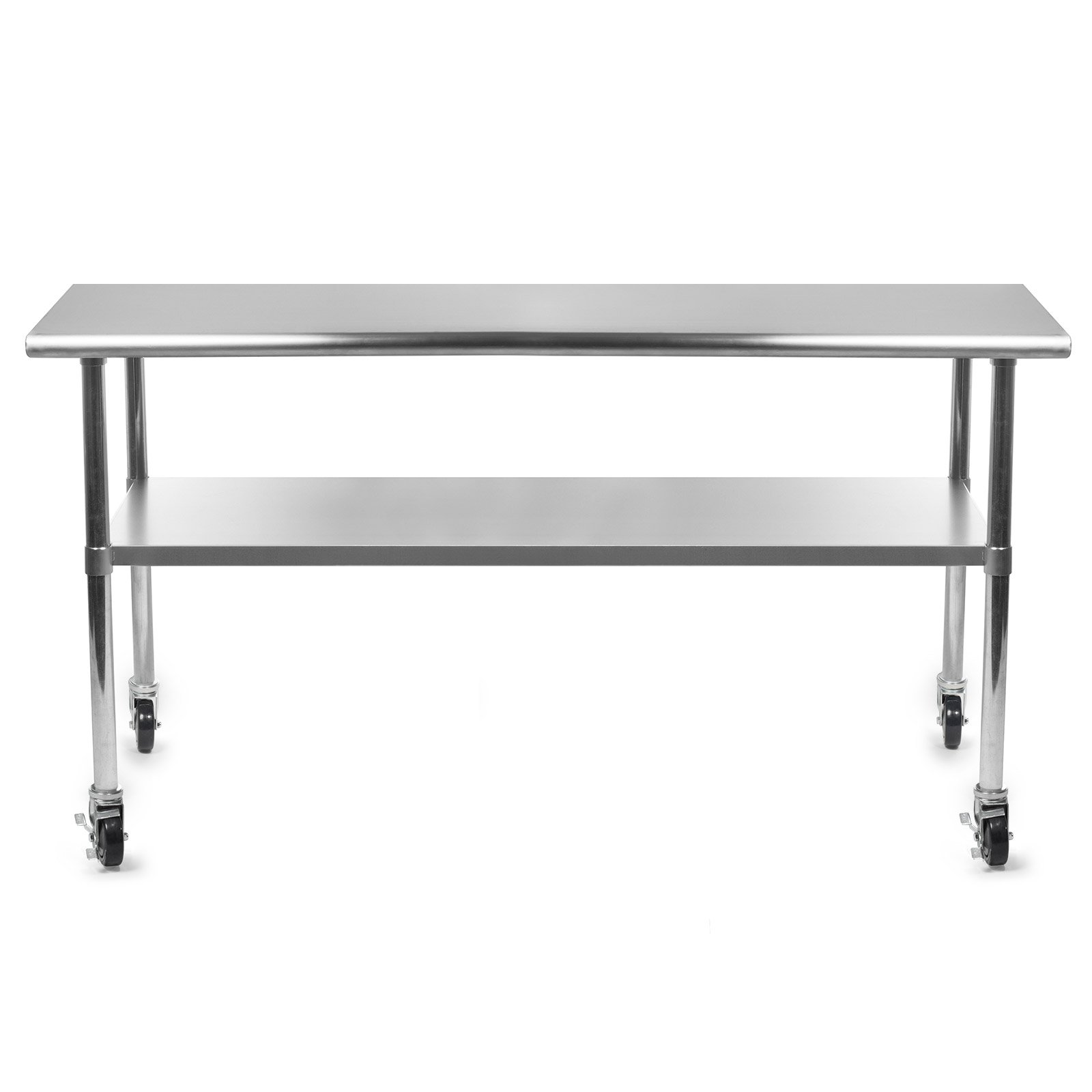 Gridmann NSF Stainless Steel Commercial Kitchen Prep & Work Table w/ 4 Casters (Wheels) - 72 in. x 24 in. by Gridmann (Image #3)