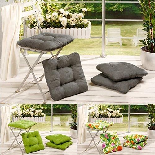 Stuhlkissen-4er-Set-40x40x8-cm-Sitzkissen-Stuhlpolster-Stuhlauflage-Kissen