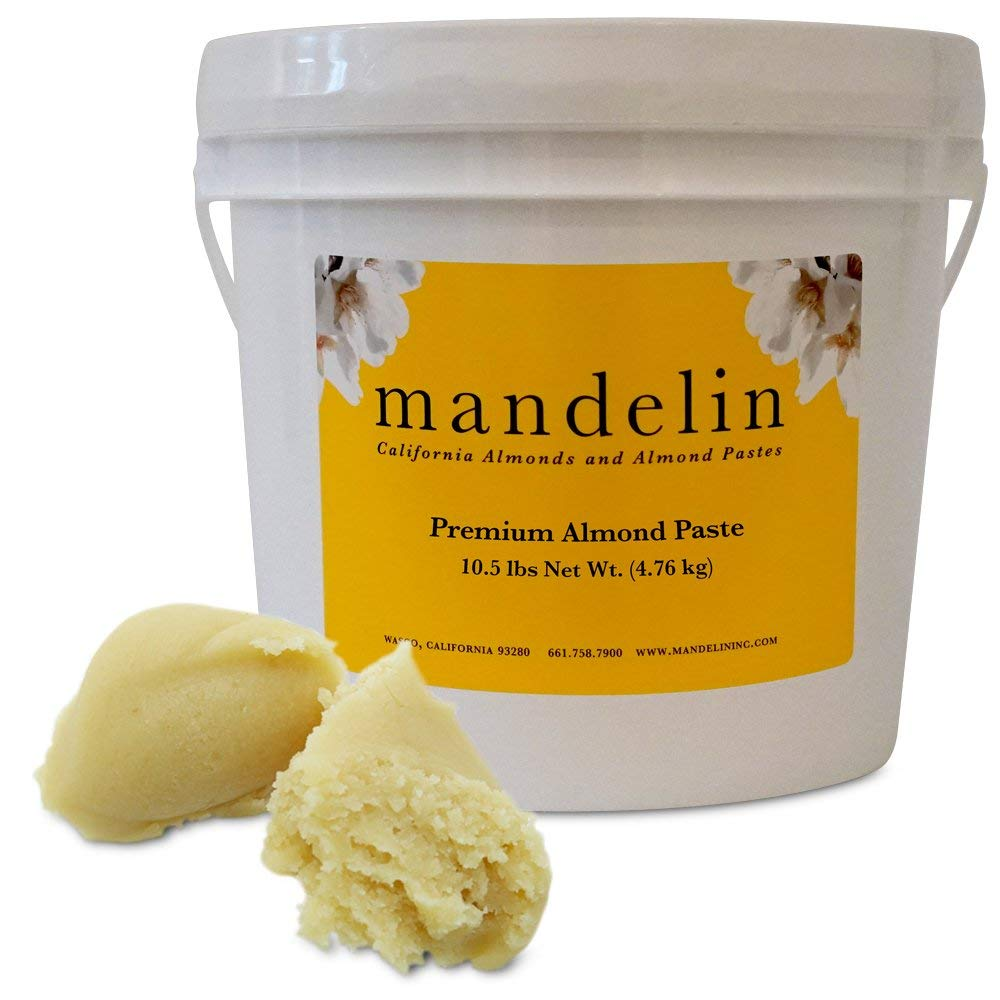 Mandelin Premium Almond Paste 66% Almonds, 34% Sugar (10.5lb) by Mandelin