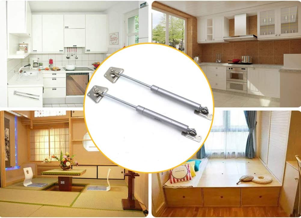 Matedepreso 2Pcs Hydraulic Support Cabinet Hinge Strong Bearing Gas Strut Lift Support Cabinet Hinge Kitchen Cupboard Door Gas Spring Door Shocks