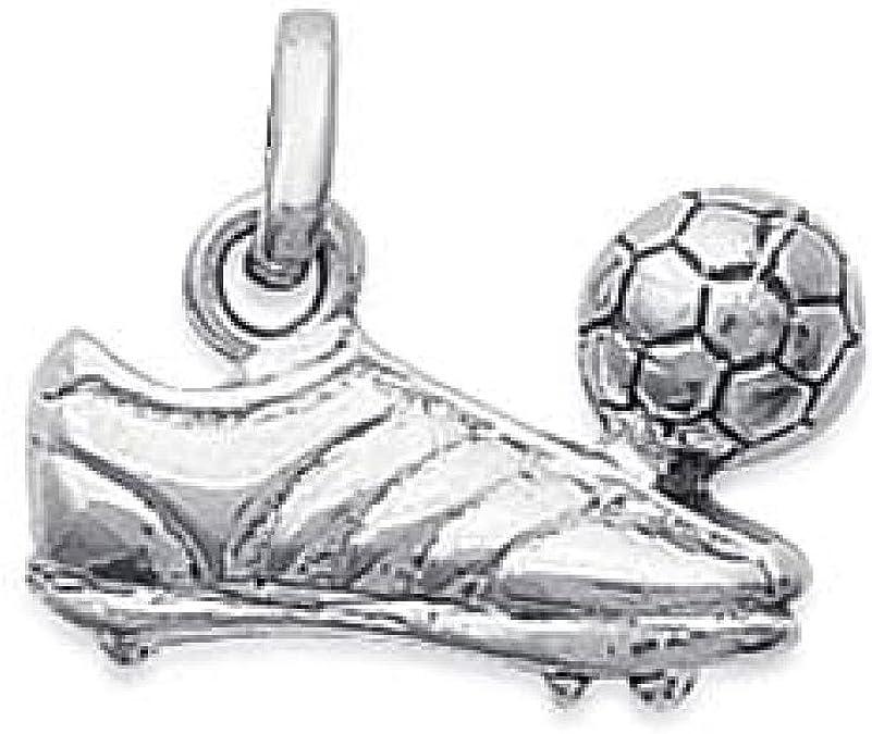 So Chic Joyas© colgante zapato balón fútbol plata 925: Amazon.es ...