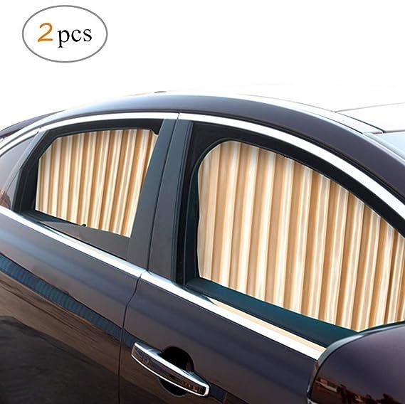 Zatooto Sonnenschutz Fürs Auto Vorhang Sonnenschutz Magnetisch Für Uv Schutz Hitzeschutz Gold Auto