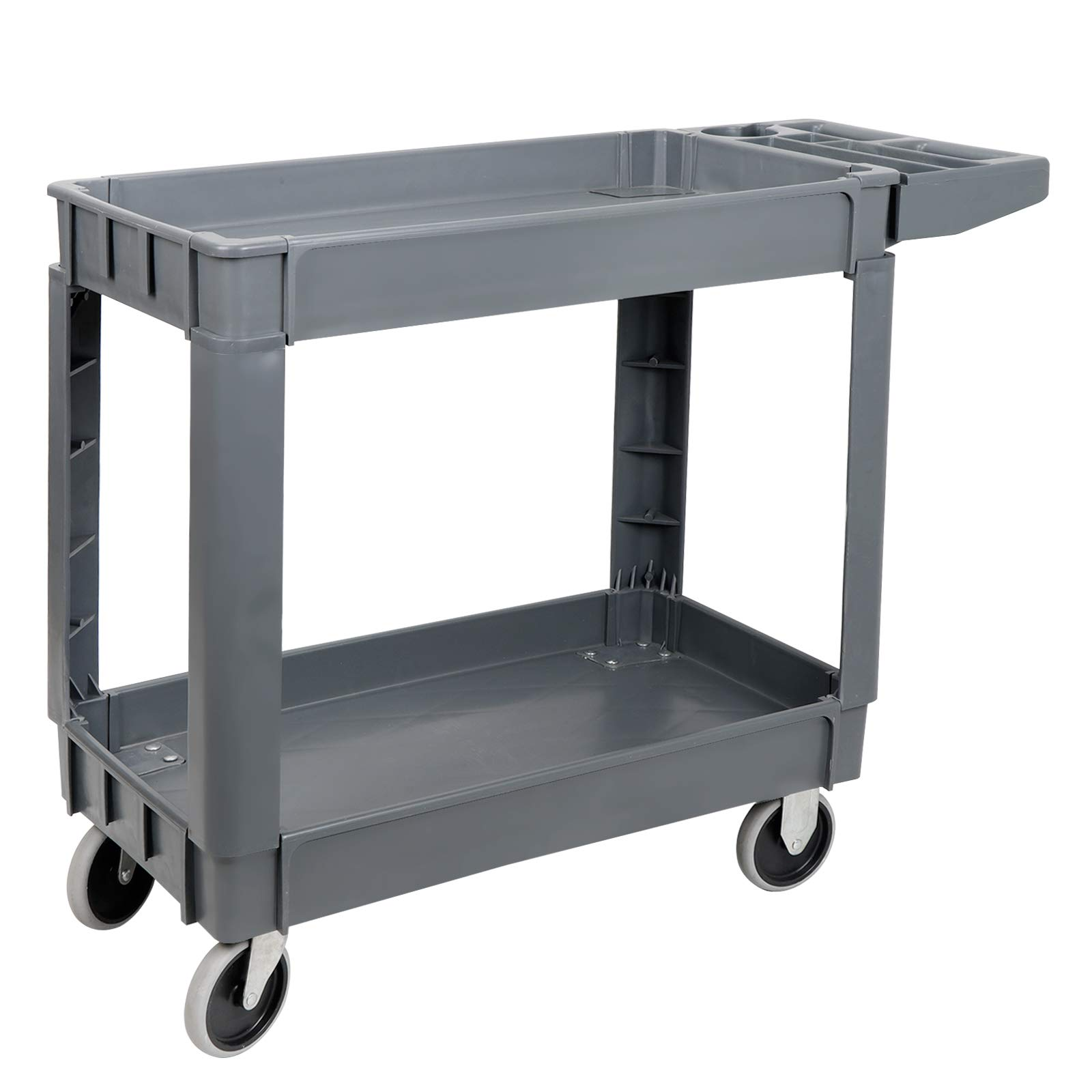 ZENY Rolling Utility Tool Storage Carts Shelves Push Service Cart Tools Organizer with Wheels 550 LBS Capacity