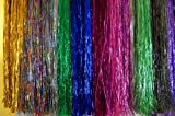 Hair Tinsel - SALON PACK - 7 packs of 100 Strands Mixed Colors 100% Silk! FREE Loop/hook Hair TOOL and 100 MIXED COLOR MICRO LINKS!