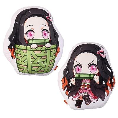futurecos Kamado Nezuko Anime Plushies Cute Figure Throw Pillow Demon Slayer Kimetsu no Yaiba Stuffed Anime Characters Plush Doll Toys Decorations for Girls Adults Bedroom Party: Home & Kitchen