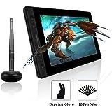 HUION KAMVAS PRO 13 13,3-Zoll BATTERIELOSES Grafik-Zeichentablett mit Display 8192 Stift-Druckstufen mit TILT-Funktion und 4 Schnelltasten und Touch Bar