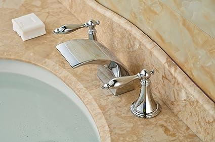 Vasche Da Bagno Doppie Prezzi : Vanme rubinetto di lavabo doppie maniglie in ottone cromato e