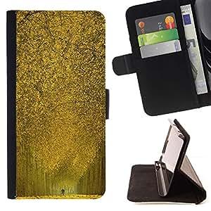 Momo Phone Case / Flip Funda de Cuero Case Cover - Naturaleza Callejón amarillo - Samsung Galaxy J3 GSM-J300