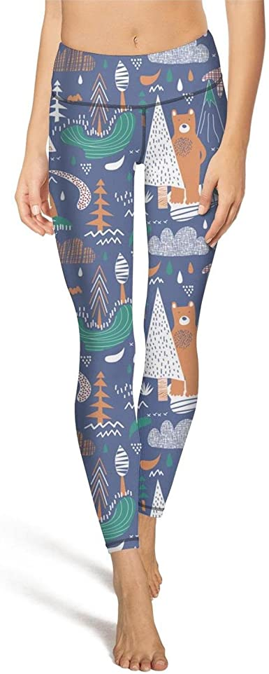 AWAWE Cartoon Bear Sports Tights Exercise Clothes