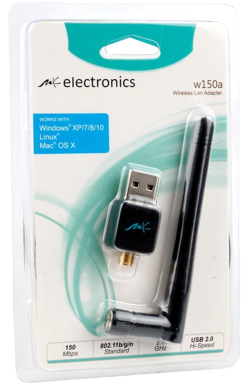 MK Electronics®  –  Mini Wifi Dongel WiFi Wireless USB 2.0 Adaptador Stick para Windows, Mac y Linux –  Verdadero Chip Realtek rtl8192cu, adecuado para enigam2, es decir, para todos los modelos Dreambox, VU +,