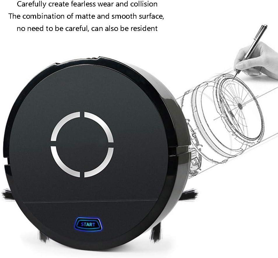 VLERHH Robot Aspirapolvere,Robot Aspirapolvere E Lavapavimenti Adatto per Pavimenti E Tappeti A Pelo Corto,Nero Sistema di Pulizia Dellintelligenza Artificiale con Serbatoio dAcqua