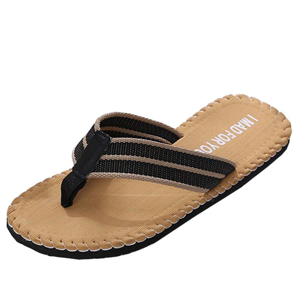 Creazrise Mens Lightweight Shoes Sandals Male Slipper Indoor Or Outdoor Walking Flip Flops Yellow