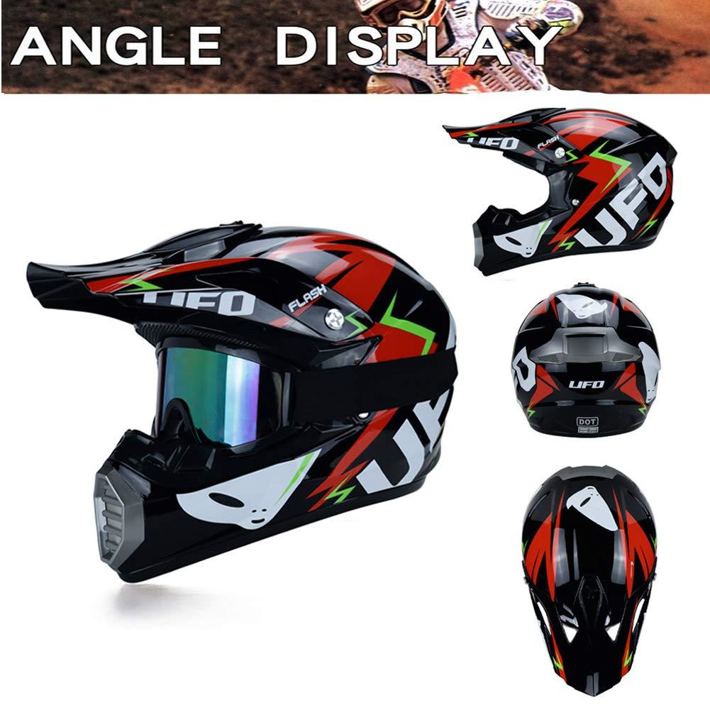 LEENP Cascos de Motocross Sets con Gafas/Máscara/Guantes ...