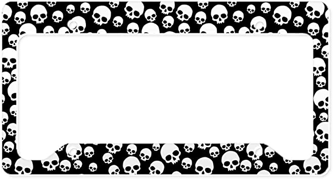 Candy Skull Aluminum License Plate for Car Truck Vehicles