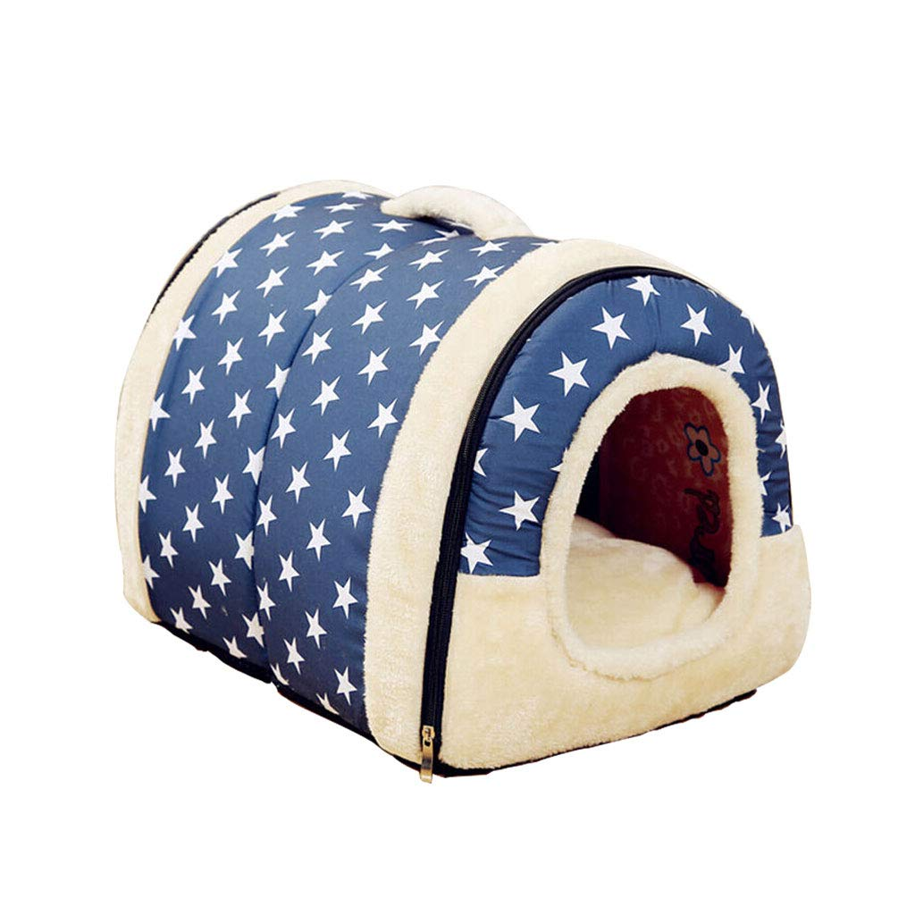 B Small B Small Deluxe 2-in-1 Pet House Portable Sofa Non-Slip Dog Cat Mat and Bed, Large Pet Bed Warm House for Pet Puppy (color   B, Size   Small)