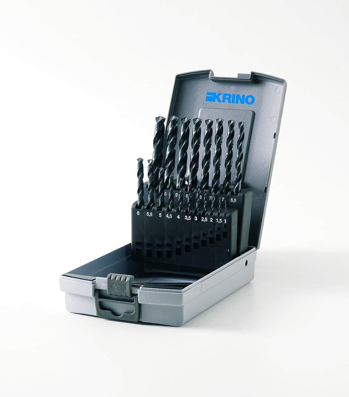 Juego de 19 brocas de acero para hierro Krino 01016305 HSS