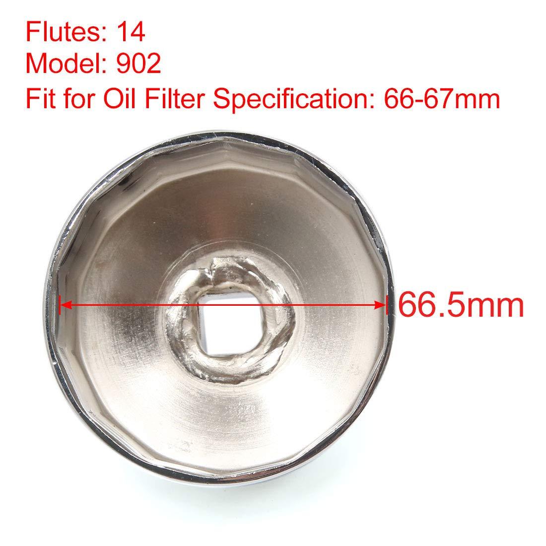 sourcingmap/® 14 Fl/öten 66mm Inner Durchmesser Edelstahl Auto /Ölfilter Schraubenschl/üssel DE de