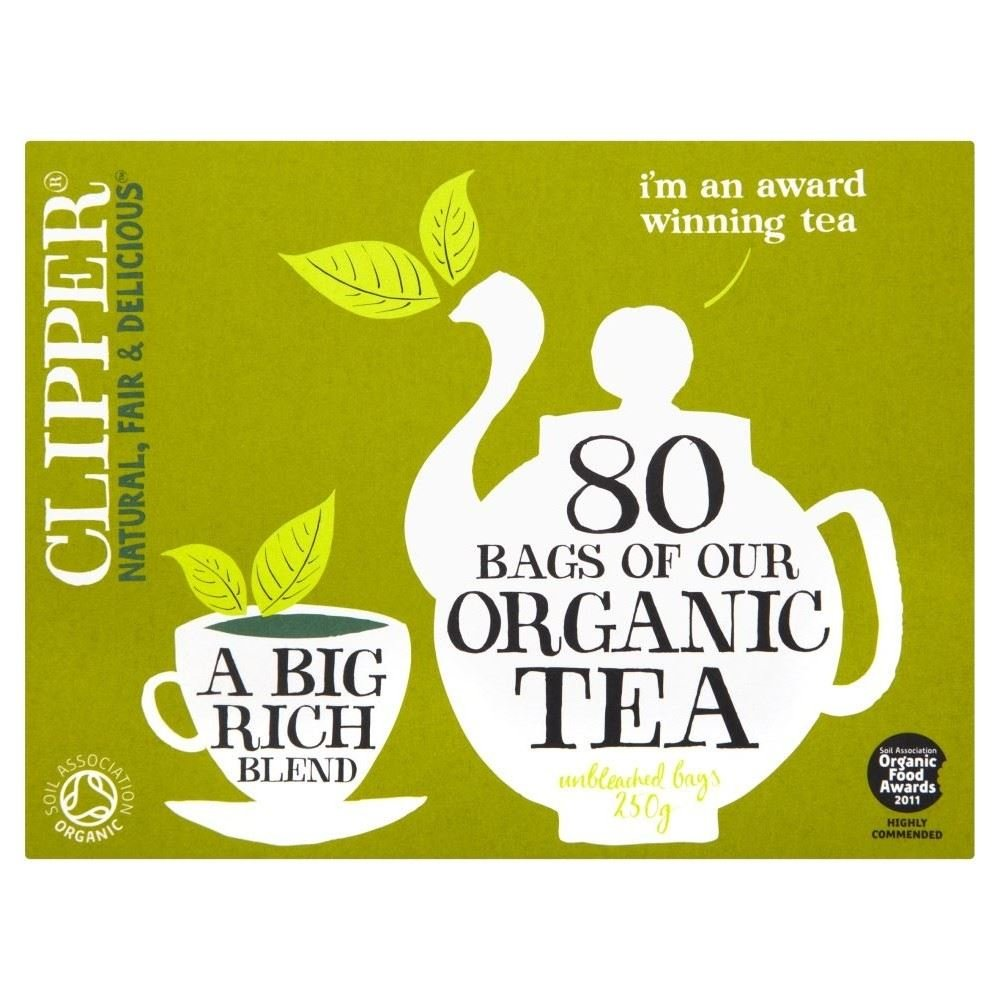 CDM product Clipper Organic Everyday Tea Bags (80) - Pack of 6 big image