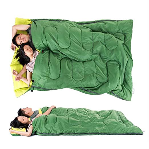 Amazon.com : Xingqianru Couple Double Sleeping Bag Adult Outdoor Season Camping Cotton Widened Thick Warm Detachable Long Type (Suitable for 1.8-2 Meters ...