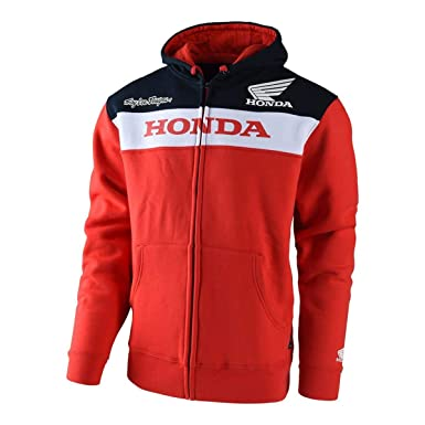 Troy Lee Designs Official Licensed Honda Zip Up Fleece (Small, Red)