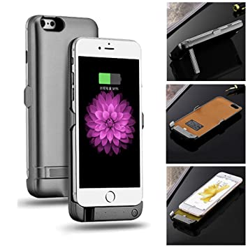 Power Bank Batería Móvil para iPhone 6/6s/6 Plus/6S Plus/Iphone 5/5s/SE, batería externa – Carcasa cargador Backup Battery Case Cover Para iPhone ...
