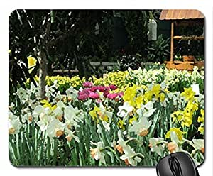 Essence of Flowers 36 Mouse Pad, Mousepad (Flowers Mouse Pad, Watercolor style) by mcsharks