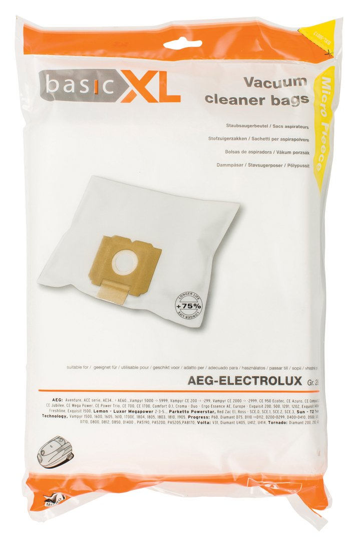 Amazon.com: basicXL Vacuum cleaner bag AEG GR 28 [BXL-50013 ...