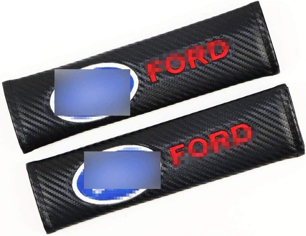per Ford Kuga Ecosport Fiesta Focus Escort Edge Everest Gyxb 2 Pz Auto Paraspalle Copri Cintura Sicurezza Fibra di Carbonio Cinture di Sicurezza Imbottiture Proteggi Spalla