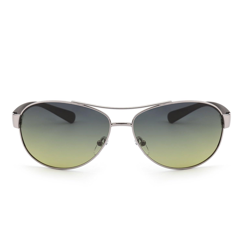 JIM HALO Gafas de Sol Polarizadas Aviador Lentes de Gradiente Templo Mate Hombre Mujer