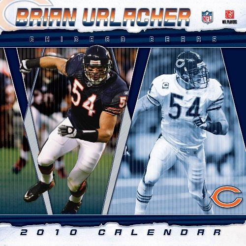 Brian Urlacher (Chicago Bears) 2010 Wall Calendar