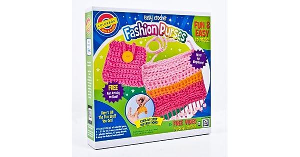 Amazon.com: Colorbok fácil Crochet Fashion Monederos: Arte ...