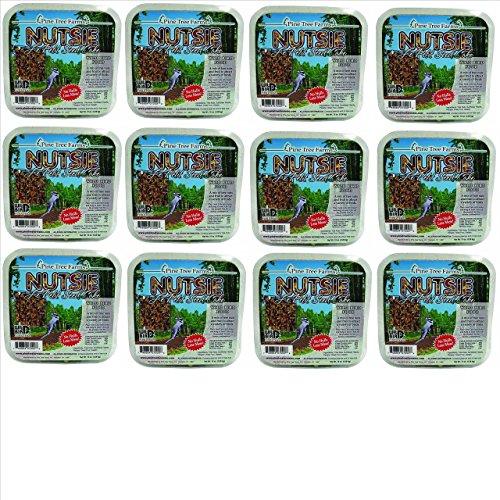 Pine Tree Farms 12 Pack Nutsie Suet Cake 10 oz. 7000 Made in USA