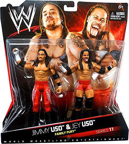 WWE Family Fury: Jimmy Uso And Jey Uso Figure 2-Pack - Series #11 (Wwe The Usos Action Figures)