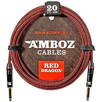 Amazon.com: AIHIKO Guitar Cable 10Ft Nylon Braided Instrument AMP ...