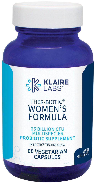 Klaire Labs Ther-Biotic Women's Formula - 25 Billion CFU Multi Probiotic, 60 Capsules