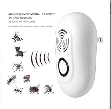 Repelentes Ultrasónicos -Enchufe Electrónico Control De Plagas Uso Interior/Exterior Para Cucarachas, Mosquitos