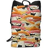 双肩バッグ 大容量 リュックサック Sushi 寿司、魔法 バックパック Schoolbag Backpack 子供 中学生かばん リュック スクエアリュック 男女子 旅行 通学 通勤
