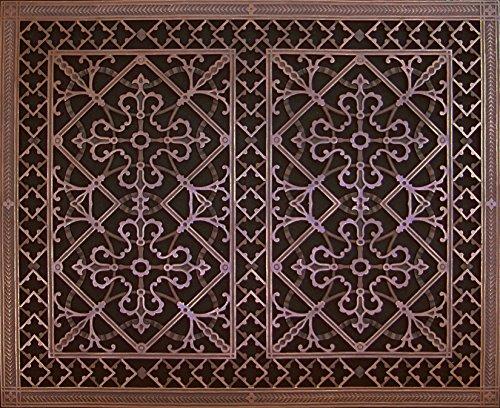 Decorative Grille, Vent Cover, or Return Register. Made of Urethane Resin to fit over a 24
