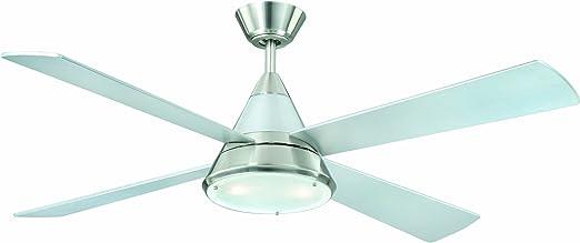 AireRyder FN71132 Ventilador de techo con la luz y control remoto, 32 W, 240 V, Gris, 132 cm: Amazon.es: Bricolaje y herramientas