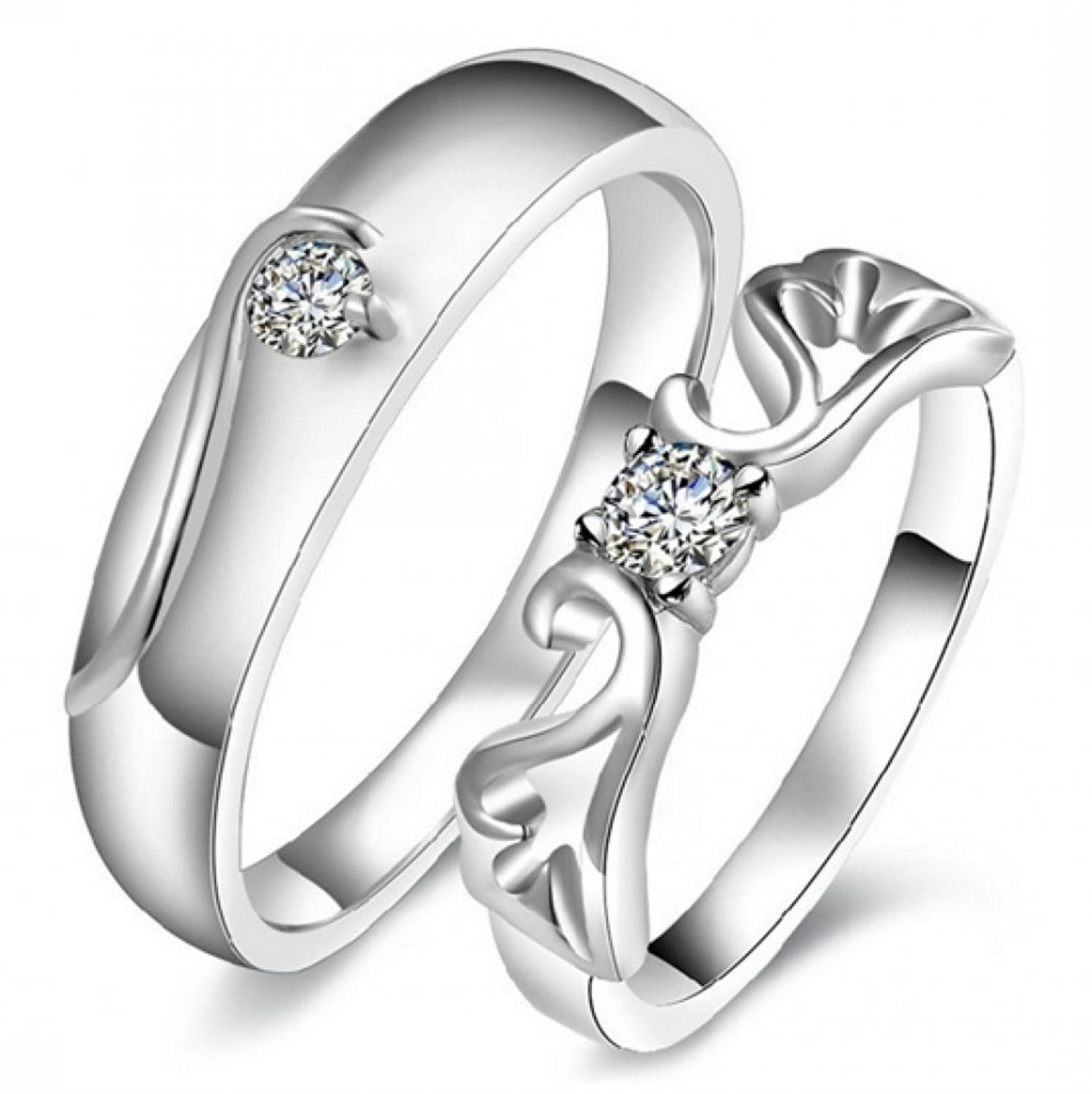 fashion rings jewelry couple jc wholesale set stainless steel engagement